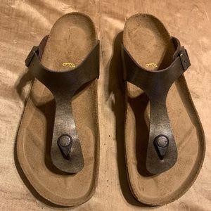 Birkenstock Sandals 40 Womens 9 Bronze New